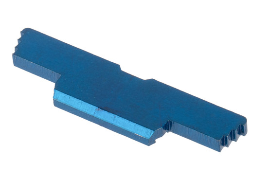 Cross Armory glock extended slide lock comes in blue