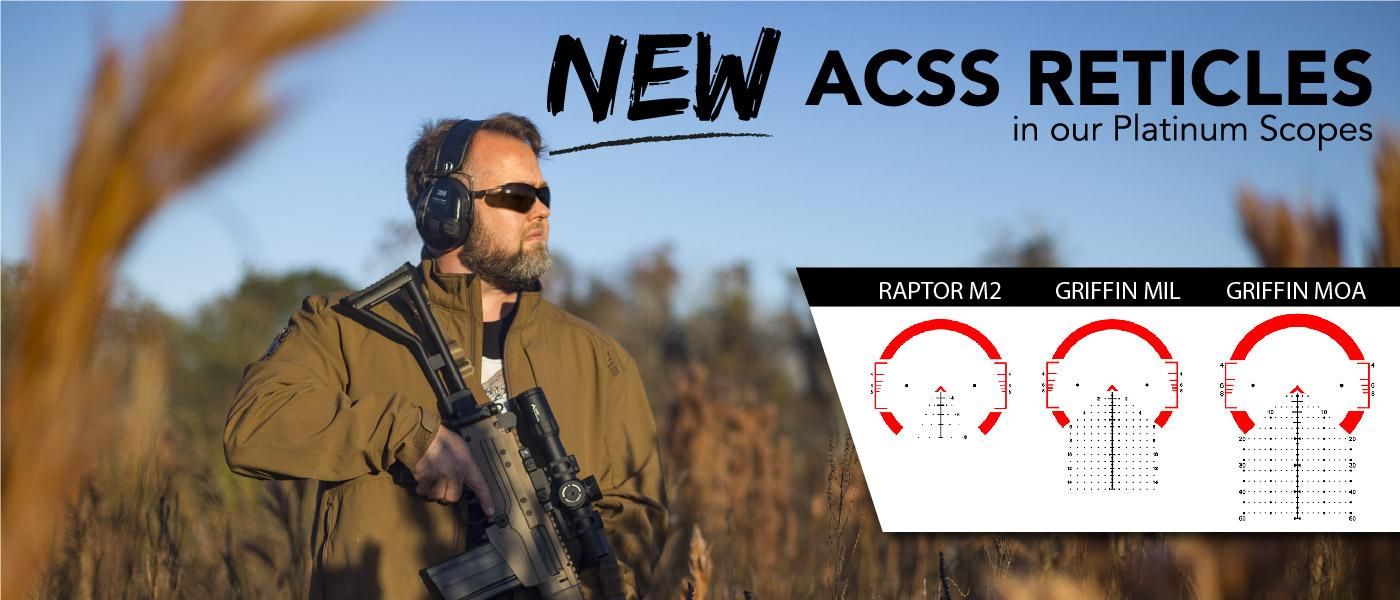 NEW ACSS Reticles: Primary Arms Platinum Series 1-8x FFP Scopes