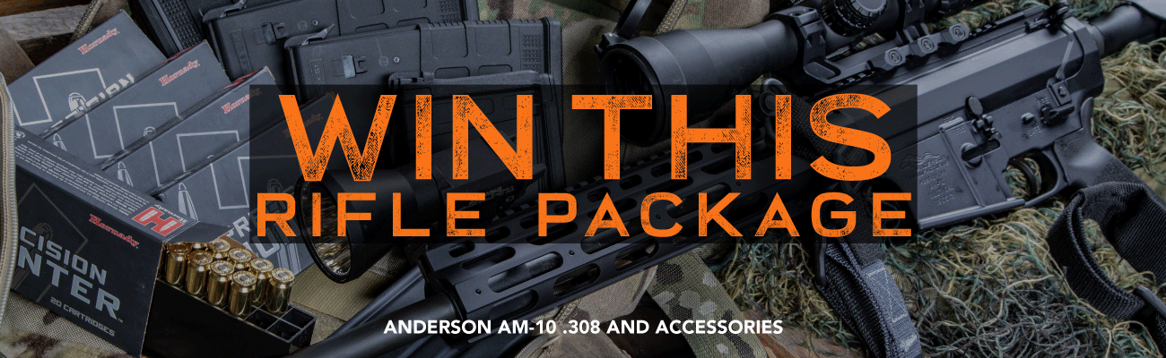 WIN THIS RIFLE PACKAGE! [Anderson AM-10 .308 And Accessories!]